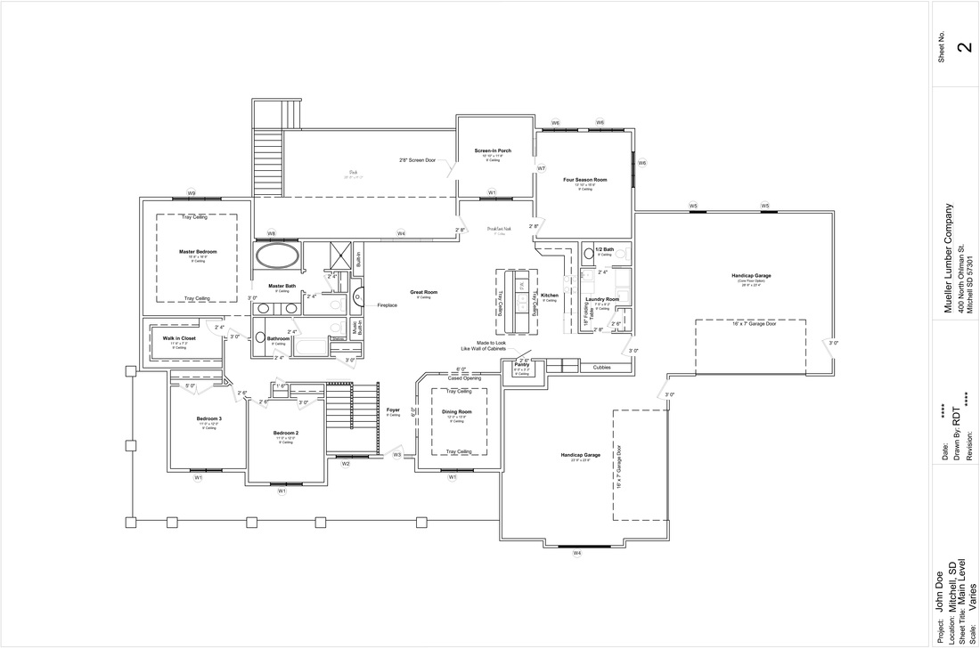 Quad level house plans House plan with basement parking
