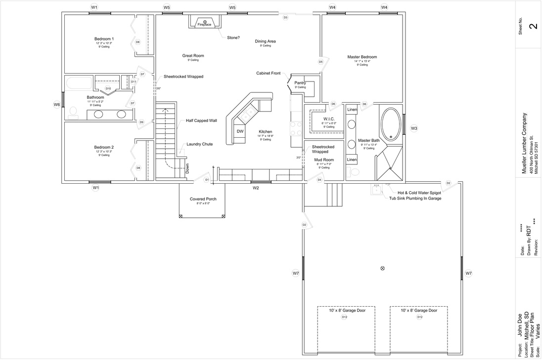 Floor plan ideas - One level house plans with basement paint ...